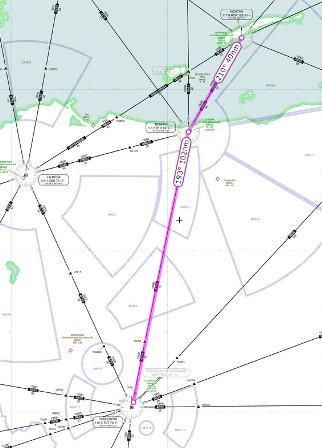 IFR route MHRO MHTG